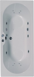 Aquaestil Calisto Double Ended Whirlpool Bath. 14 Jets. 1700x750mm.