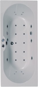 Aquaestil Calisto Eclipse Double Ended Whirlpool Bath. 24 Jets. 1700x750mm.