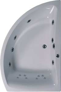 Aquaestil Comet Corner Whirlpool Bath. 14 Jets. Right Handed. 1500x1000mm.