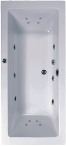 Aquaestil Plane Double Ended Turbo Whirlpool Bath. 14 Jets. 1900x900mm.