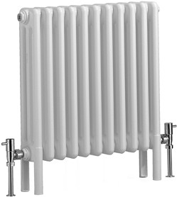 Bristan Heating Nero 3 Column Electric Radiator (White). 535x600mm.