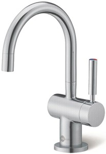 InSinkErator Hot Water Steaming Hot & Cold Filtered Kitchen Faucet (Brushed Steel).