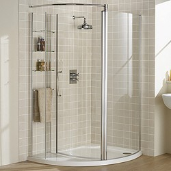 Lakes Classic Left Hand 1255x965 Compartment Shower Enclosure & Tray.