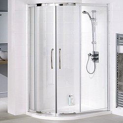 Lakes Classic Left Hand 1200x800 Offset Quadrant Shower Enclosure & Tray.