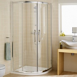 Lakes Classic 900mm Quadrant Shower Enclosure & Tray (Silver).