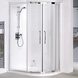 Lakes Classic Right Hand 900x800 Offset Quadrant Shower Enclosure & Tray.