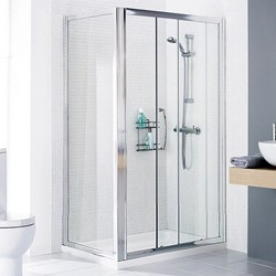 Lakes Classic 1000x700 Shower Enclosure, Slider Door & Tray (Left Handed).