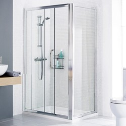 Lakes Classic 1700x750 Shower Enclosure, Slider Door & Tray (Right Handed).