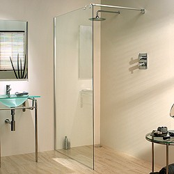 Lakes Italia 1200x1950 Glass Shower Screen & 800mm Arm. Left Handed.