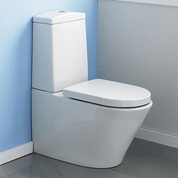 Crown Ceramics Solace Toilet With Push Flush Cistern & Soft Close Seat.