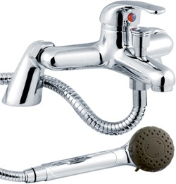 Crown D-Type Bath Shower Mixer Faucet With Shower Kit (Chrome).