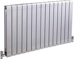Crown Radiators Myrtle Horizontal Radiator (Silver). 984x600mm. 5728 BTU.