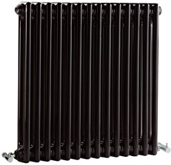 Crown Radiators Regency 2 Column Radiator (Black). 650x600mm. 2981 BTU.
