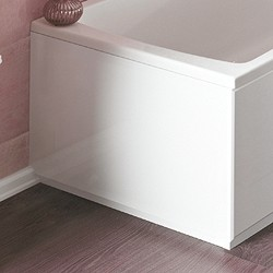 Crown Bath Panels 700mm End Bath Panel (White, Acrylic).