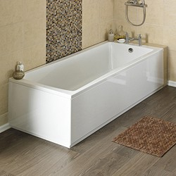 Crown Baths Linton Single Ended Acrylic Bath & Panels. 1600x700mm