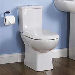 Crown Ceramics Asselby Toilet With Dual Push Flush Cistern & Seat.