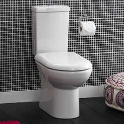 Crown Ceramics Knedlington Toilet With Dual Push Flush Cistern & Seat.