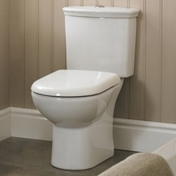 Crown Ceramics Barmby Toilet With Dual Push Flush Cistern & Seat.
