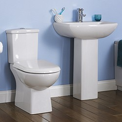Crown Ceramics Asselby 4 Piece Bathroom Suite With Toilet & 600mm Basin.