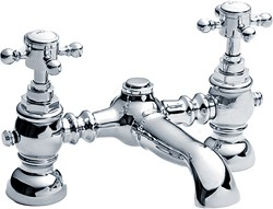 Crown Edwardian Traditional Bath Filler Faucet (Chrome).
