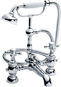 Crown Edwardian Traditional Bath Shower Mixer Faucet With Shower Kit.