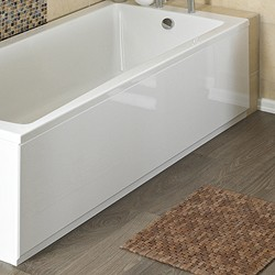 Crown Bath Panels 1500mm Side Bath Panel (White, MDF).