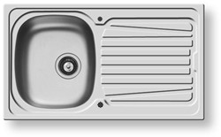 Pyramis Sparta Kitchen Sink & Waste. 860x500mm (Reversible, 1 Faucet Hole).