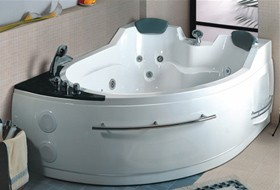 Hydra Pro Whirlpool Bath for 2 Persons.  Left Hand. 1695x1330mm.