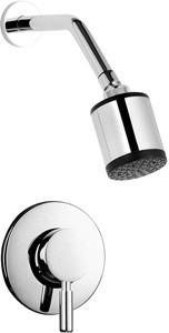 Hudson Reed Tec Manual Concealed Shower Valve & Fixed Shower Head.