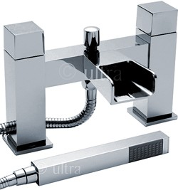 Ultra Channel Waterfall Bath Shower Mixer Faucet With Shower Kit (Chrome).
