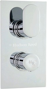 "Hudson Reed Cloud 9 3/4"" Twin Thermostatic Shower Valve With Diverter."