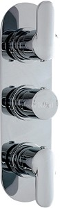 Hudson Reed Dias Triple Concealed Thermostatic Shower Valve (Chrome).
