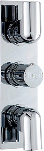 Hudson Reed Epic Triple Concealed Thermostatic Shower Valve (Chrome).