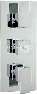 Hudson Reed Genna Triple Concealed Thermostatic Shower Valve (Chrome).
