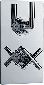 Ultra Helix Twin Concealed Thermostatic Shower Valve (Chrome).