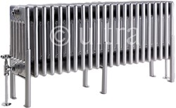Ultra Colosseum 6 Column Radiator With Legs (Silver). 1011x480x220mm.