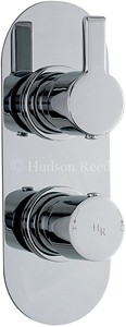 Hudson Reed Icon Twin Concealed Thermostatic Shower Valve (Chrome).