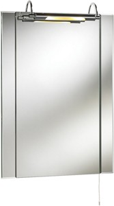 Ultra Mirrors Pallas Bathroom Mirror With Light.  550x750mm.