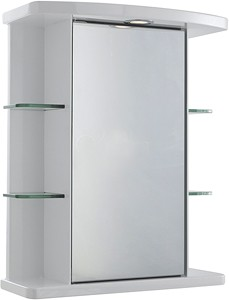 Ultra Cabinets Congress Mirror Cabinet, Light & Shaver. 530x670x255mm.