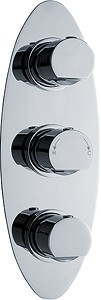 Ultra Orion Triple Concealed Thermostatic Shower Valve (Chrome).