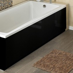 Hudson Reed Bath Panels 1600mm Side Bath Panel (Black, MDF).