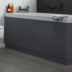 Hudson Reed Bath Panels 1700mm Side Bath Panel (Memoir Grey, MDF).