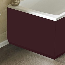 Hudson Reed Bath Panels 750mm End Bath Panel (Memoir Burgundy, MDF).