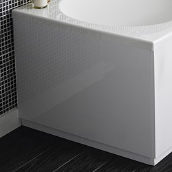 Hudson Reed Bath Panels 800mm End Bath Panel (White, MDF).
