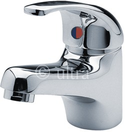 Ultra Eon Eco Click Basin Faucet With Push Button Waste (Chrome).
