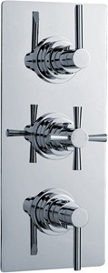 Ultra Pixi Triple Concealed Thermostatic Shower Valve (Chrome).