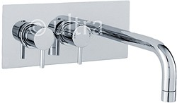 Ultra Quest Wall Mounted Thermostatic Bath Filler Faucet (Chrome).