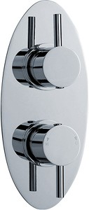 "Ultra Quest 3/4"" Twin Concealed Thermostatic Shower Valve With Diverter."