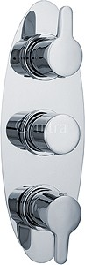 Ultra Series 140 Triple Concealed Thermostatic Shower Valve (Chrome).