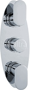 Ultra Ratio Triple Concealed Thermostatic Shower Valve (Chrome).